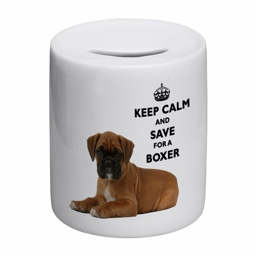 Keep Calm And Save For A Boxer Novelty Ceramic Money Box